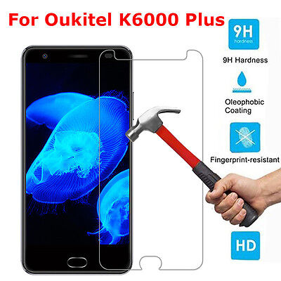 1~3PCS 0.26mm Tempered Glass Screen Protector Film Cover For Oukitel K6000 Plus