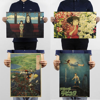 COOL Vintage Retro Anime Poster Bar Cafe Home Room Decor Kraft Paper Poster New