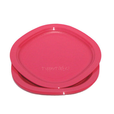 Tupperware Small Microwave safe DESSERT Lunch PLATES x 4 Coral Pink NEW Kids