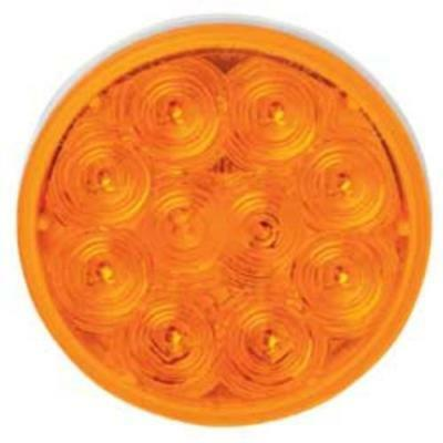 "Imperial 81709 10-LED Stop/Turn/Tail Lamp, 4"", Amber"