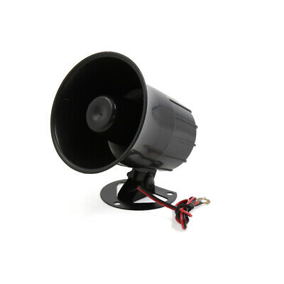 DC 12V 15W One Tone Loud Electric Car Speaker Alarm Siren Air Horn Black