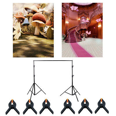 2pcs Flowers Photography Backdrop Photo Studio Background Props w/ Stand