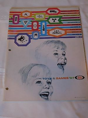 1967 Ideal Toy Catalog (55 pages) & bonus 3-page order form ORIGINAL/RARE