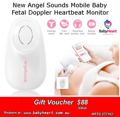 AngelSounds Baby Fetal Doppler Heartbeat Monitor For Smartphone Mobile Gift Card