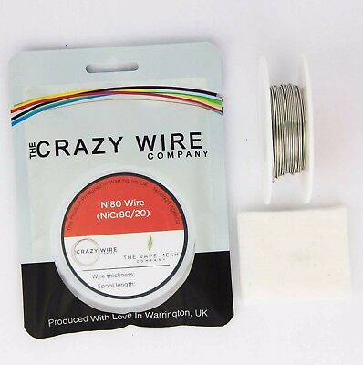 0.8mm (20 AWG) Fat Ni80 (Nichrome) Wire - 10 + Metre Spool