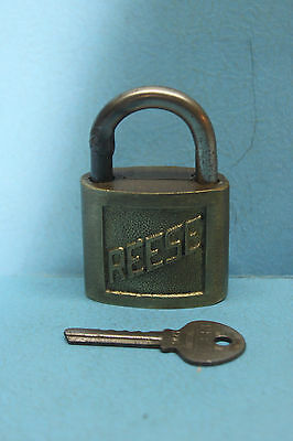Vintage Reese Brass #6 Lock w/ Key marked 806 - Made in USA