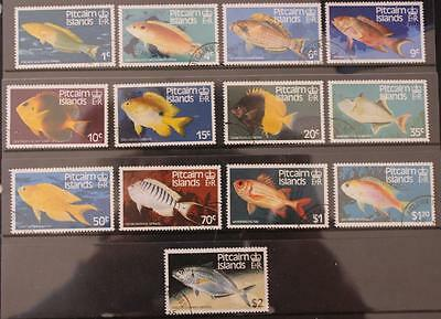 Pitcairn Islands 1984 Fishes Set Fine Used (Hinged) SG246-248