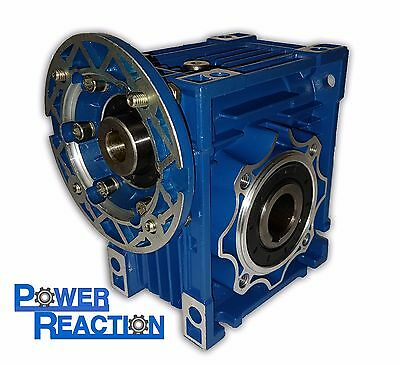 Worm right angle gearbox / speed reducer / size 63 / ratio 25:1 / 90B14 / 25mm