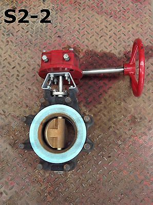 "Bray Controls 430400-11001466 4"" WCB Manual Wafer Butterfly Valve 740PSI"