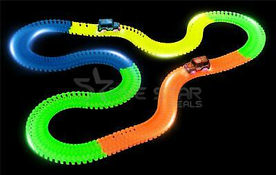 250pcs FLUORESCENT TRACKS GLOW IN THE DARK RACE CAR BEND FLEX TRACK TOY GIFT