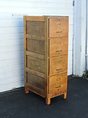 Early 1900s Antique Tall Wood File Cabinet 8437