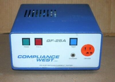 Compliance West Usa Gf-25A 25A High Current Ground Continuity Current Tester