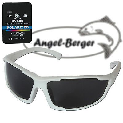 Angel Berger High UV Polarisationsbrille Sea White