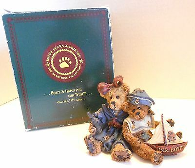 Boyds Bears 1998 ELVIRA and CHAUNCEY FITZBRUIN...SHIPMATES #227708 RETIRED