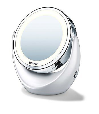 New Beurer BS49 Illuminated cosmetic mirror Normal & Magnified with LED Light