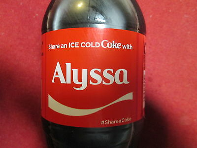 Brand New 2017 Share a Coke with Alyssa-20 oz Collectible Coca-Cola Bottle-HTF