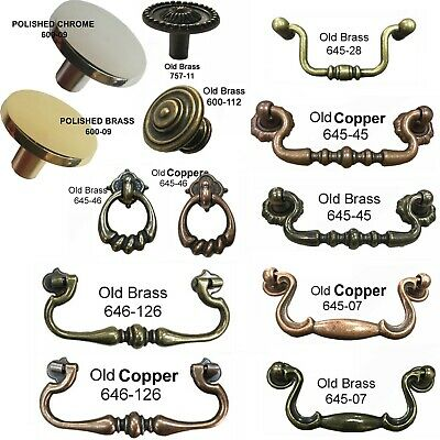 Ring / Handle Knobs Vintage Decorative Cabinet Drawer Drop Swan Neck Handles