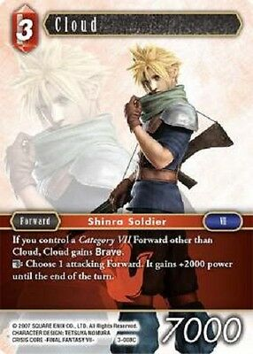 3x Cloud (3-008)	-	3-008C	-	Common NM Final Fantasy TCG  OPUS 3 iii