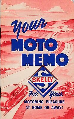 1951 Skelly Gas, Moto Memo Booklet w/ calendar & list Radio Stations, Never Used
