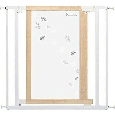 Badabulle Safety Gate Plexiglas (White Leaves)