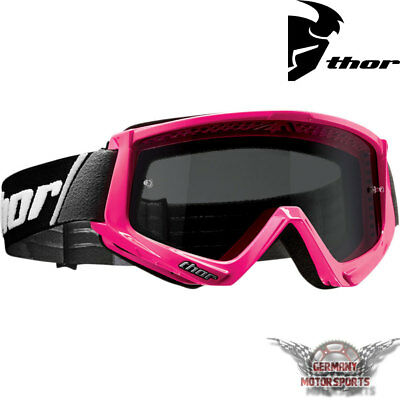 Motocross Brille Crossbrille Goggle Thor Combat Sand Pink Cross Enduro Offroad