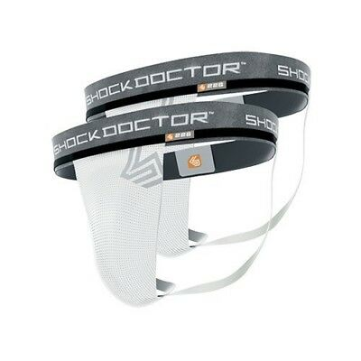 Shock Doctor 226 Core 2 Pack of Men's Athletic Supporters, No Cup Pocket, S-XXL