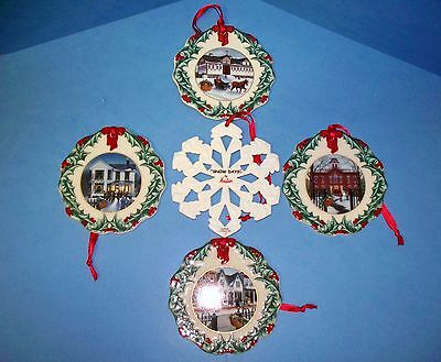 5 Longaberger Basket Collector's Club Christmas Tree Ornaments (ACS)