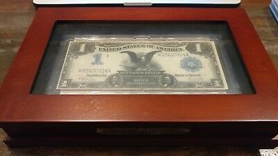 "The Famous 1899 One Dollar ""black Eagle  Silver Certificate W/ Box & Card"