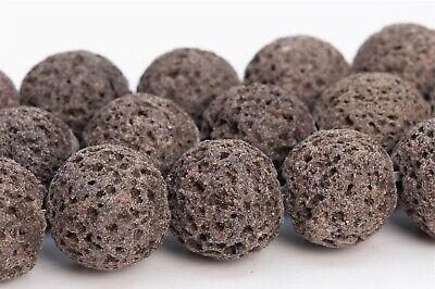 10MM Natural Chocolate Volcanic Lava Beads Grade A Round Loose Beads 15.5""