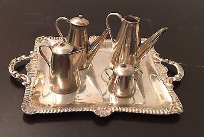 Miniature Sterling Silver Piece Tea Coffee Set Peru 925