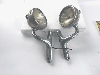 Pair Jeweled Brass Cowl Lights, Big Car Quality, Cadillac Packard Lincoln Buick