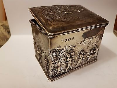 Rare Antique Silver Tea Caddy Thomas Hayes 1903