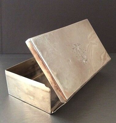Sterling Silver Cigar Box / Trinket Box / Case Drew & Sons - Samuel Summers