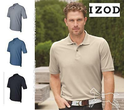 IZOD Mens Silkwash 6.5 oz Cotton Classic Pique Sport Shirt 13Z0012 up to 5XL