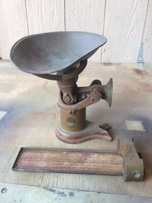Antique Pelouze Scale with Weights