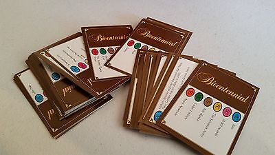 Bicentennial Monopoly Replacement Cards  50 Cards  - Free postage