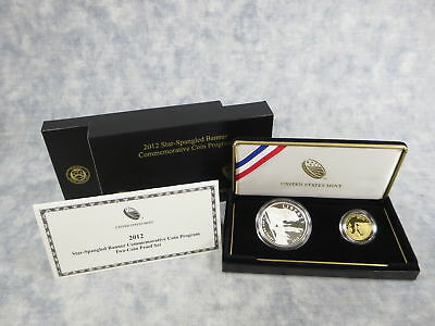 2012 Star-Spangled Banner $5 Gold & $1 Silver 2-Coin Proof Set in Box with COA