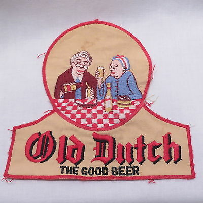 Vtg Old Dutch Beer Brewery Advertising Embroidered Cloth Patch