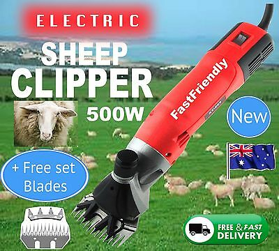 6 Speed 500W Electric Shearing Supplies Clipper Shear Sheep Goats Farm Shears +B