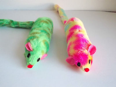 Classic Ferret Catnip Toy - Multi Coloured - Fun And Exercise For Cats New