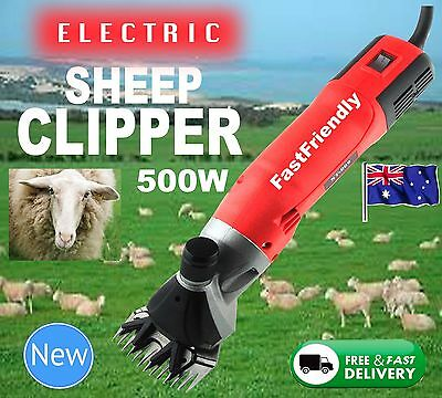 New 500W Electric Sheep Shearing Supplies Goats Clipper Shear Shears Alpaca 650W