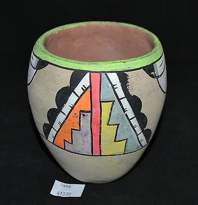 ThriftCHI ~ Small Native American Brightly Painted Clay Pot