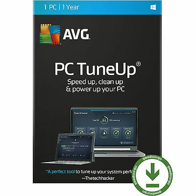 AVG PC TuneUp 2017 1 PC User 1 Year Clean and Speed Up License Key Code Global