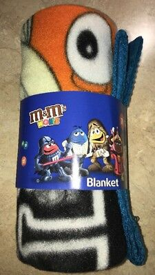M&M's World Blanket The Chocolate Mpire Star Wars The Empire Strikes Back NEW