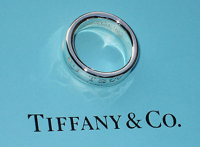 295ecd12a 1997 Tiffany & Co. 925 Sterling Silver Concave Band Ring T & Co 1837 Size