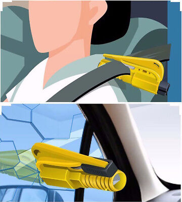 Car Hold Tool 3-in-1 Survival Rescue Tool Saving Hammer Seat Belt Cutter Whistle