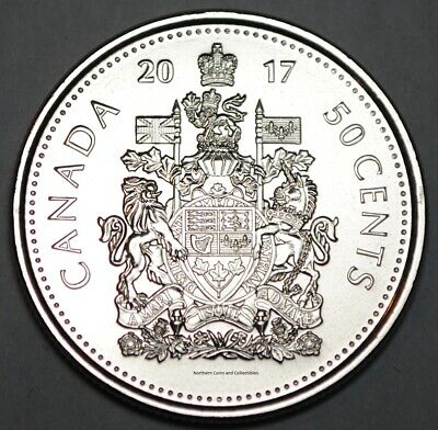 Canada 2017 Logo 50 cents Nice UNC from roll - BU Canadian Half Dollar