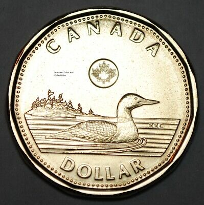 Canada 2017 BU 1 Dollar Classic Canadian Loonie from mint roll
