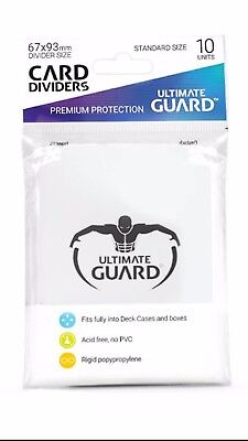 Ultimate Guard TRADING CARD STORAGE DIVIDERS PACK OF 10 - WHITE