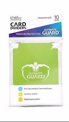Ultimate Guard TRADING CARD STORAGE DIVIDERS PACK OF 10 - LIGHT GREEN